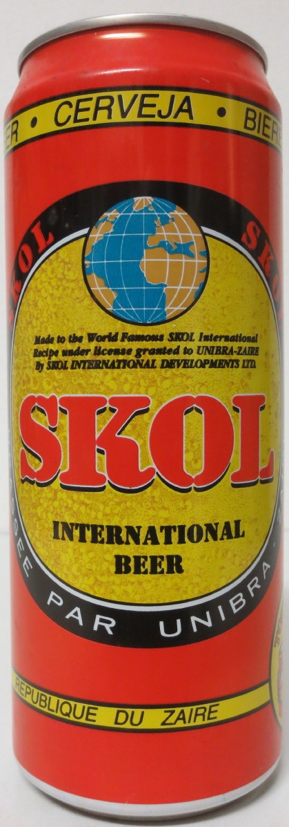 ZAIRE-SKOL INTERNATIONAL BEER (50cl) (AL) (B/O)
